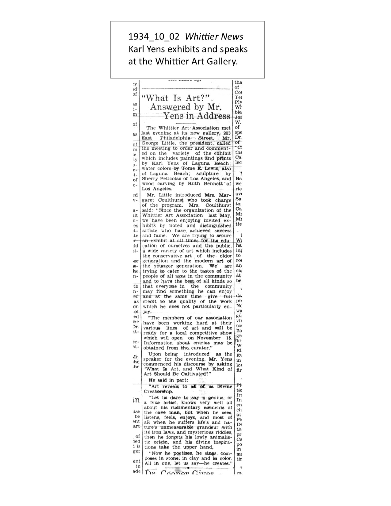 1934_10_02 Whittier News Karl Yens