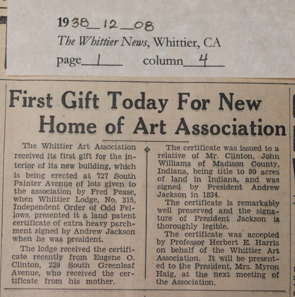 1938_12_08 First Gift for Home of Art Association_trimmed