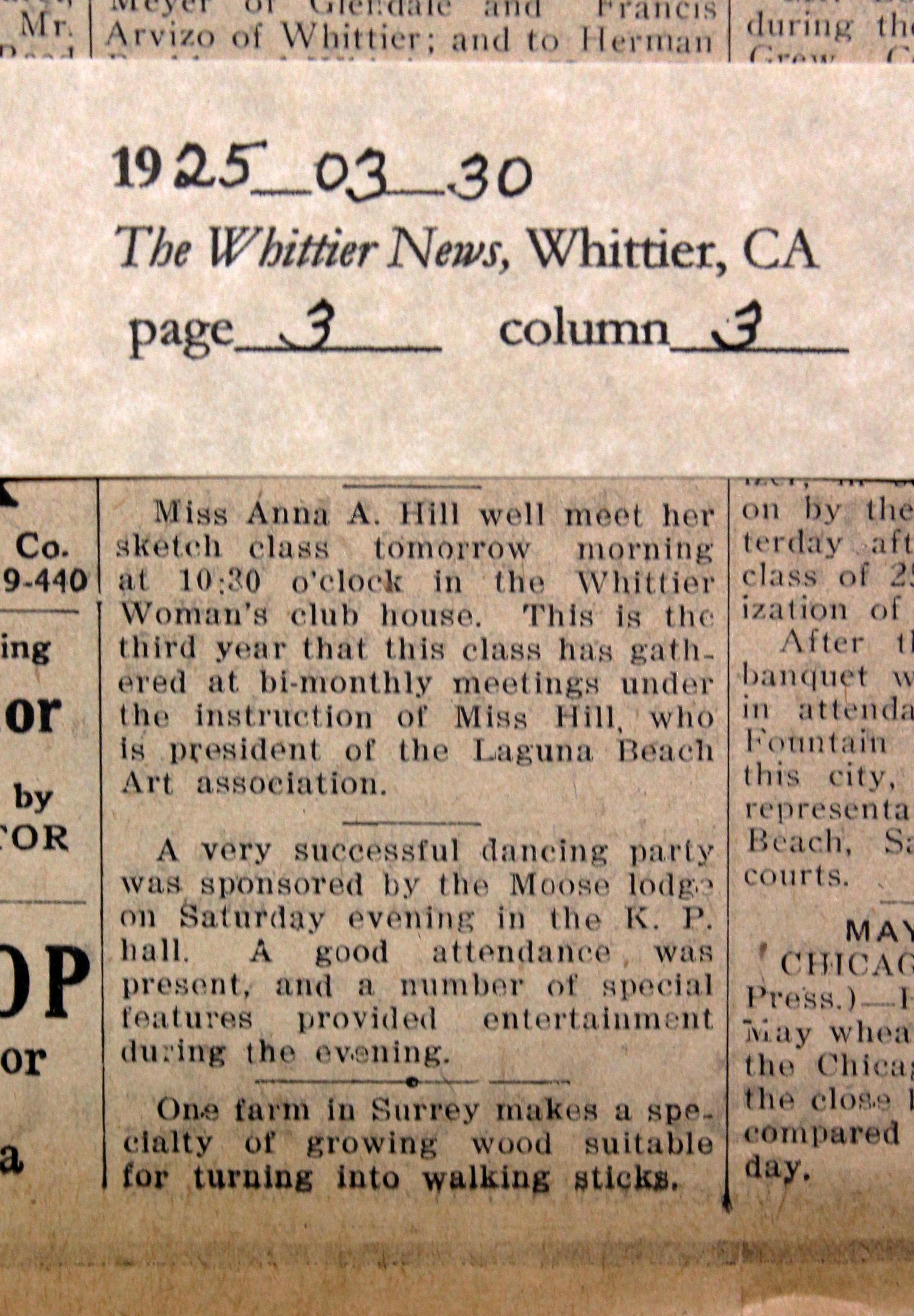 1925_03_30 WN Anna Hills class meets bi-monthly edited